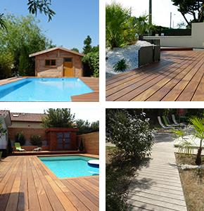 Exemples de réalisations terrasse à Vallet, Clisson, Gorges, Nantes, Vertou ...
