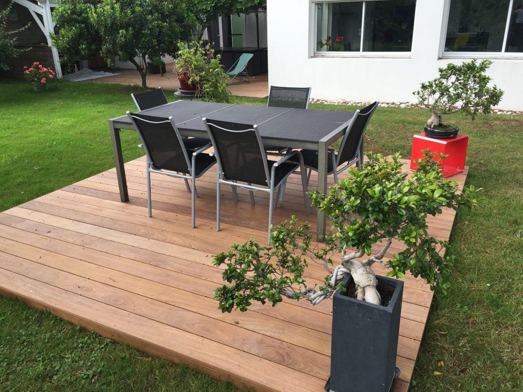 Aménagement Extérieur Nantes - terrasse IPE bois exotique moderne